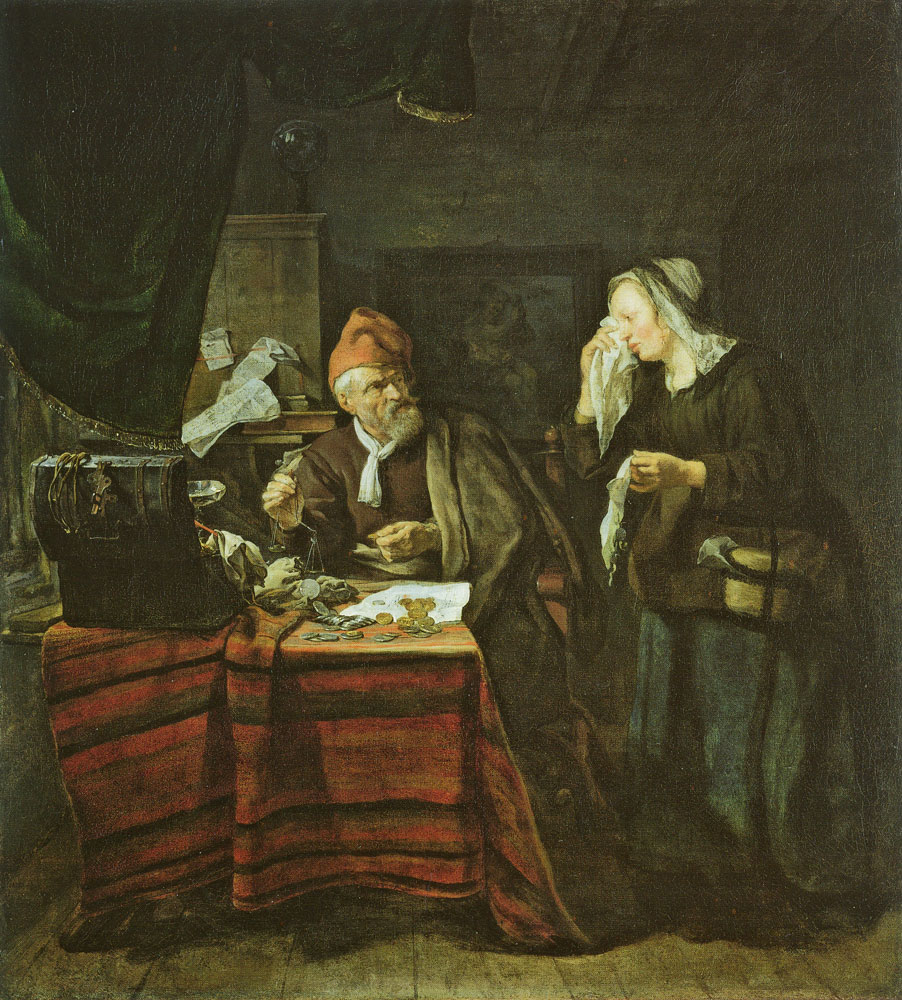 Gabriel Metsu - A Moneylender Visited by a Weeping Woman