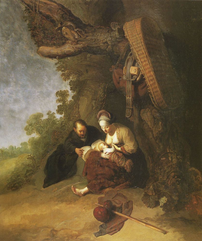 Gerard Dou - Rest on the flight to Egypt