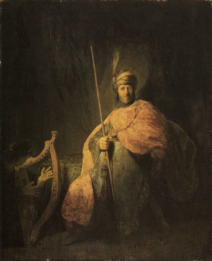 Rembrandt - David Playing the Harp to Saul