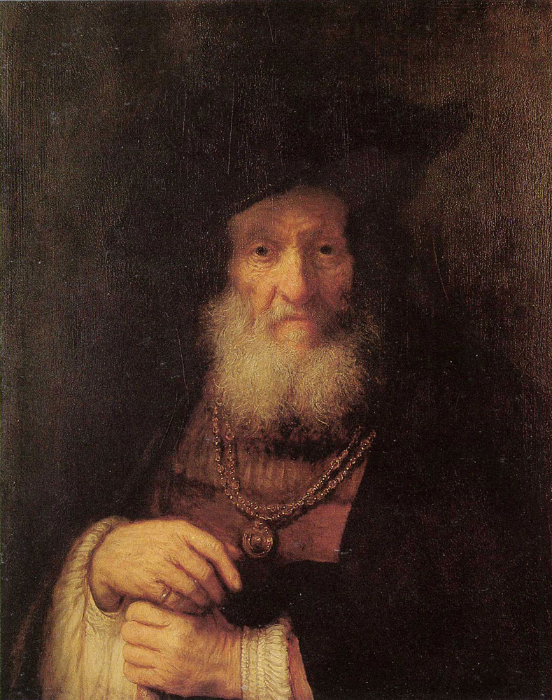 Rembrandt - An old man in rich costume (Boas?)