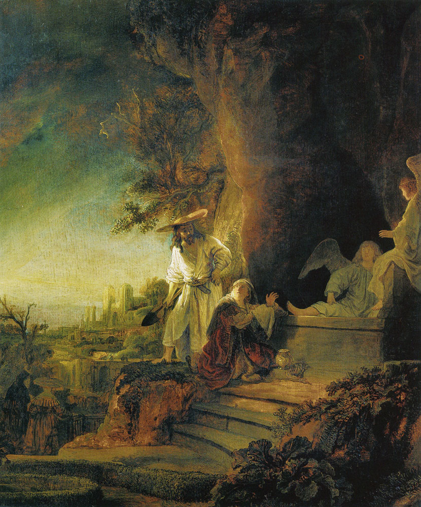 Rembrandt - Christ as Gardener Appearing to the Magdalene