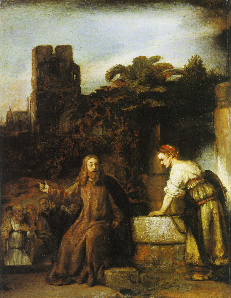 Rembrandt workshop - Christ and the Woman of Samaria