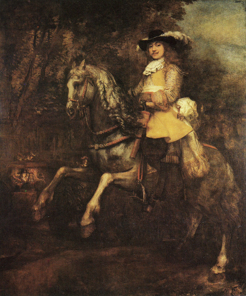 Rembrandt and assistant - Portrait of Frederick Rihel on Horseback