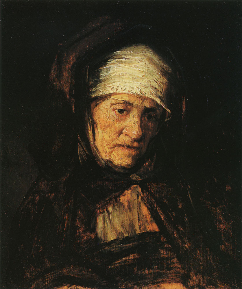 Follower of Rembrandt - Head of an Aged Woman