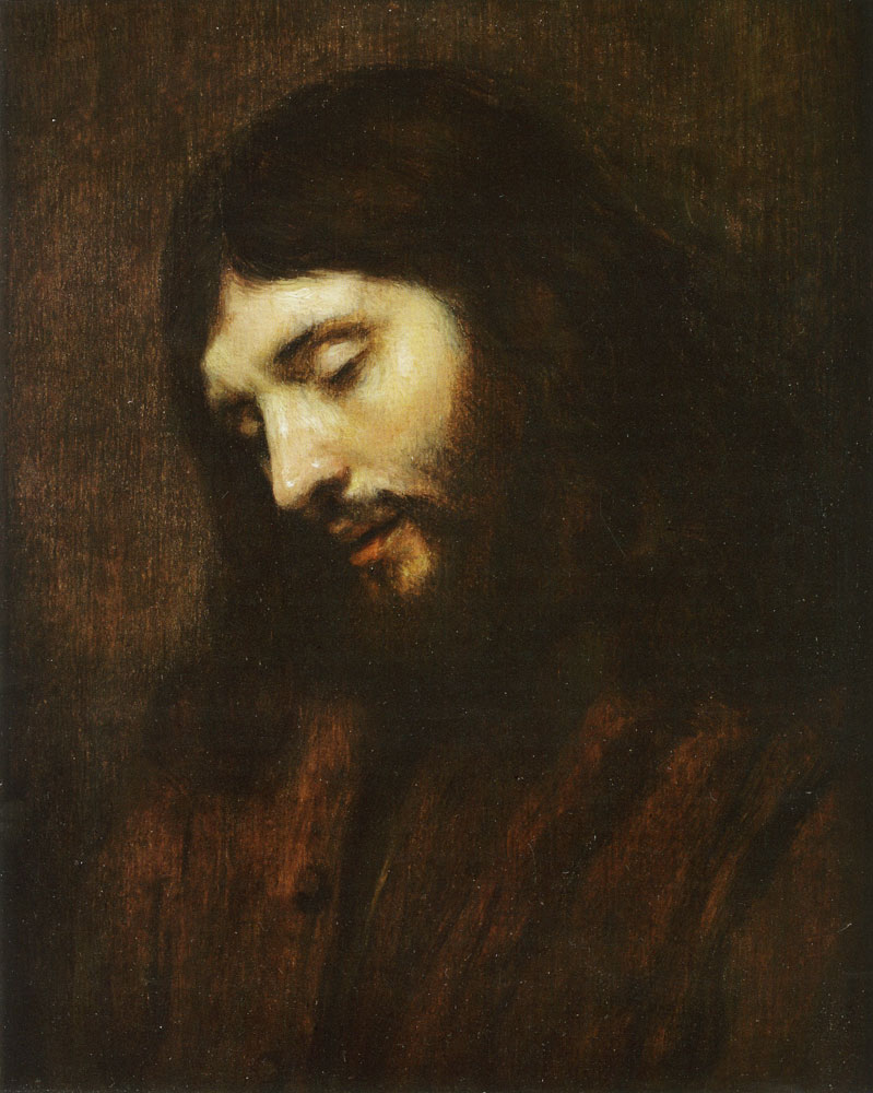 Attributed to Rembrandt and Studio - Head of Christ