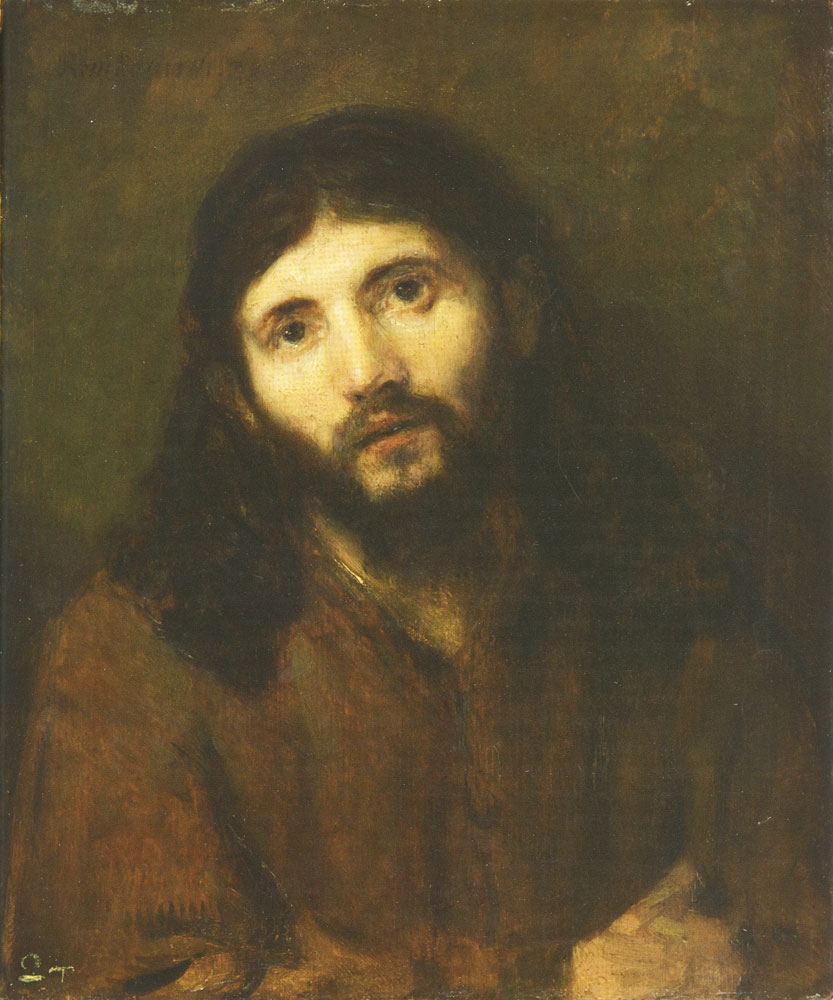 Attributed to Rembrandt - Head of Christ