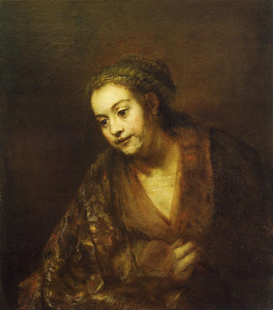 rembrandt portrait of a woman hendrickje stoffels
