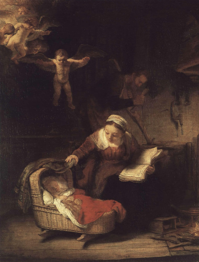 Rembrandt - The Holy Family with Angels