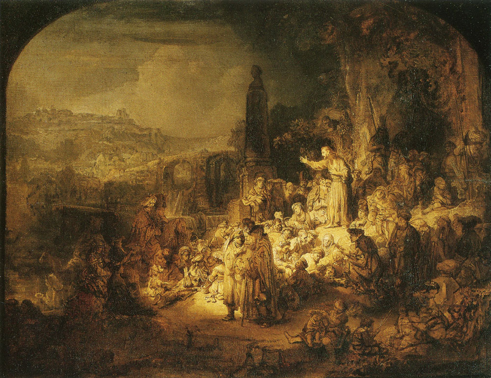 Rembrandt - John the Baptist Preaching