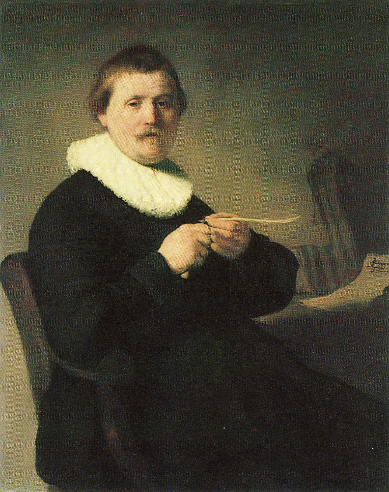 Rembrandt - Portrait of a Man Trimming His Quill