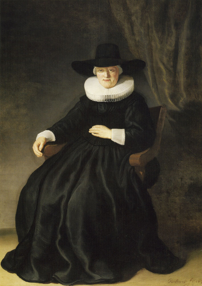 Rembrandt - Portrait of Maria Bockenolle, wife of Johannes Elison