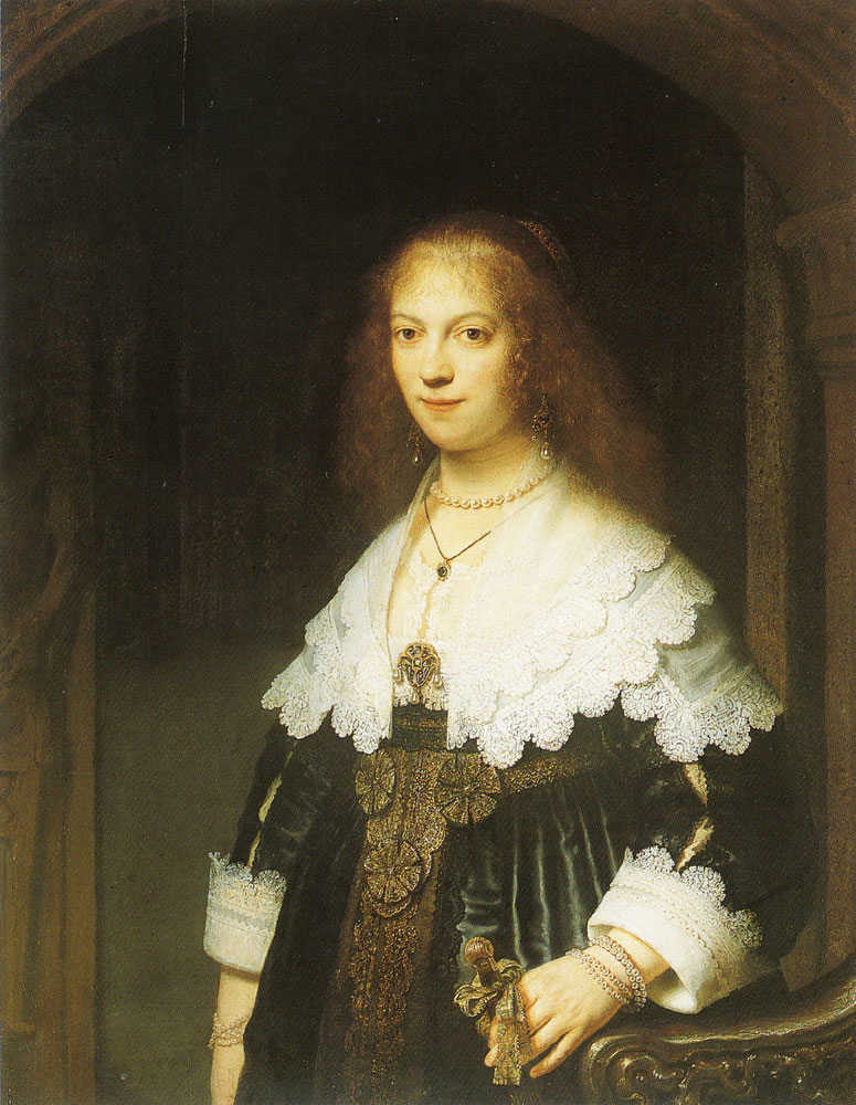 Rembrandt - Portrait of a Young Woman, probably Maria Trip