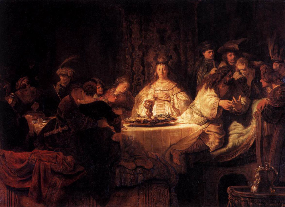 Rembrandt - The marriage of Samson