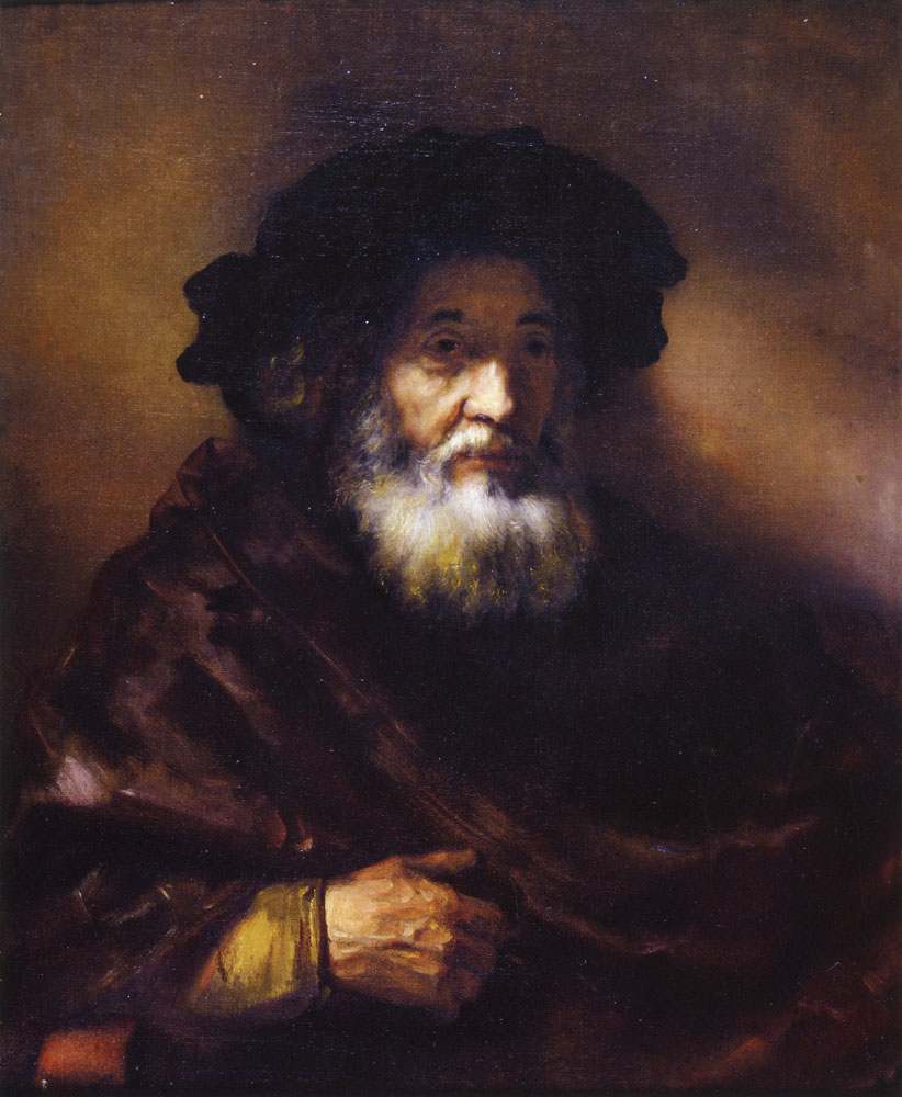 Follower of Rembrandt - Portrait of an Old Man in a Cape