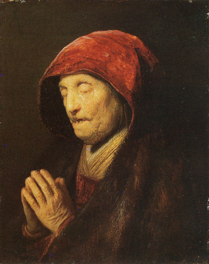 Rembrandt - Old Woman at Prayer