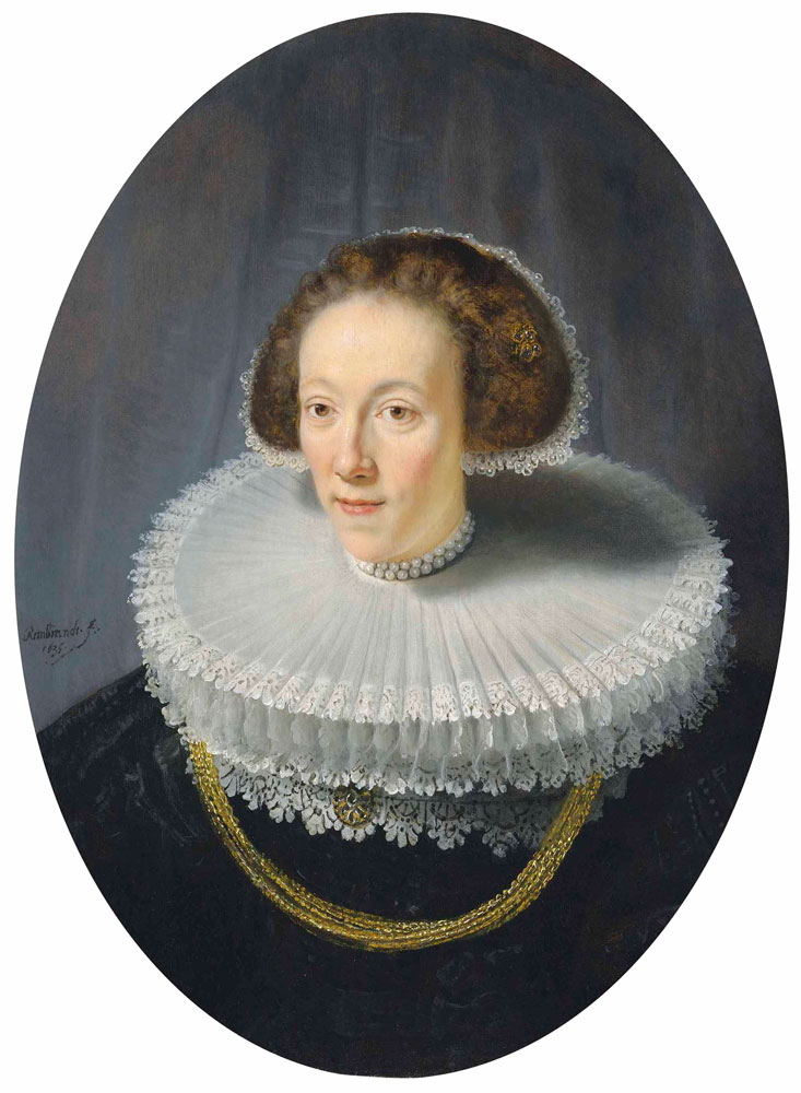 Rembrandt and mainly workshop - Portrait of Petronella Buys