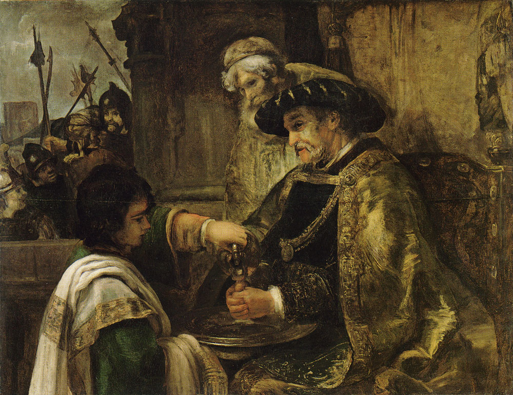 Style of Rembrandt - Pilate Washing His Hands