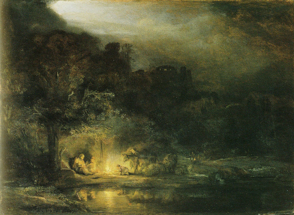 Rembrandt - The Rest on the Flight into Egypt
