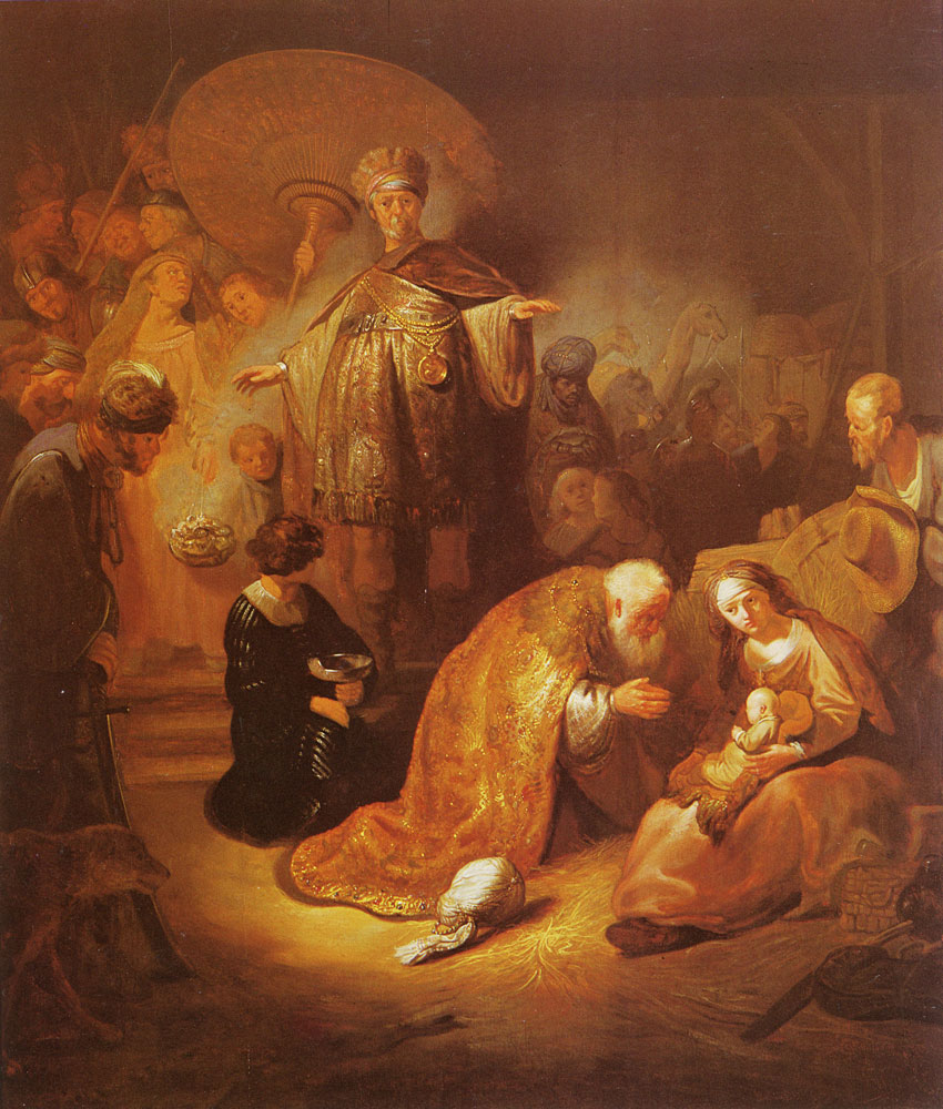 Anonymous School of Rembrandt - The Adoration of the Shepherds