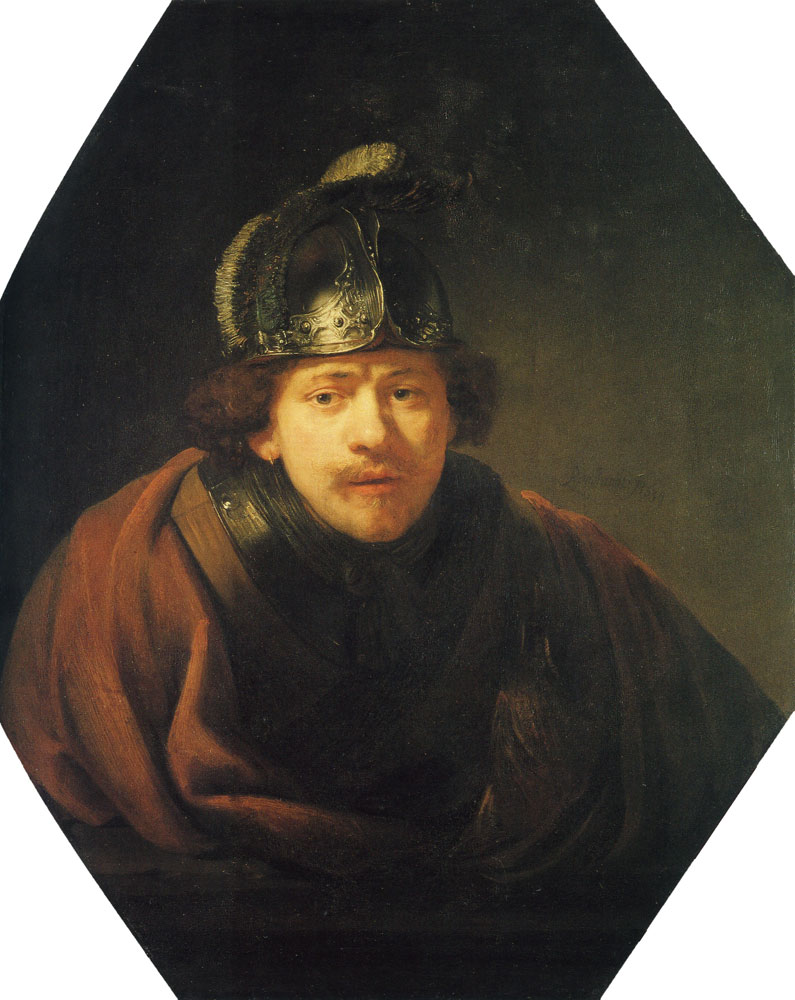 Rembrandt - Self Portrait with Helmet