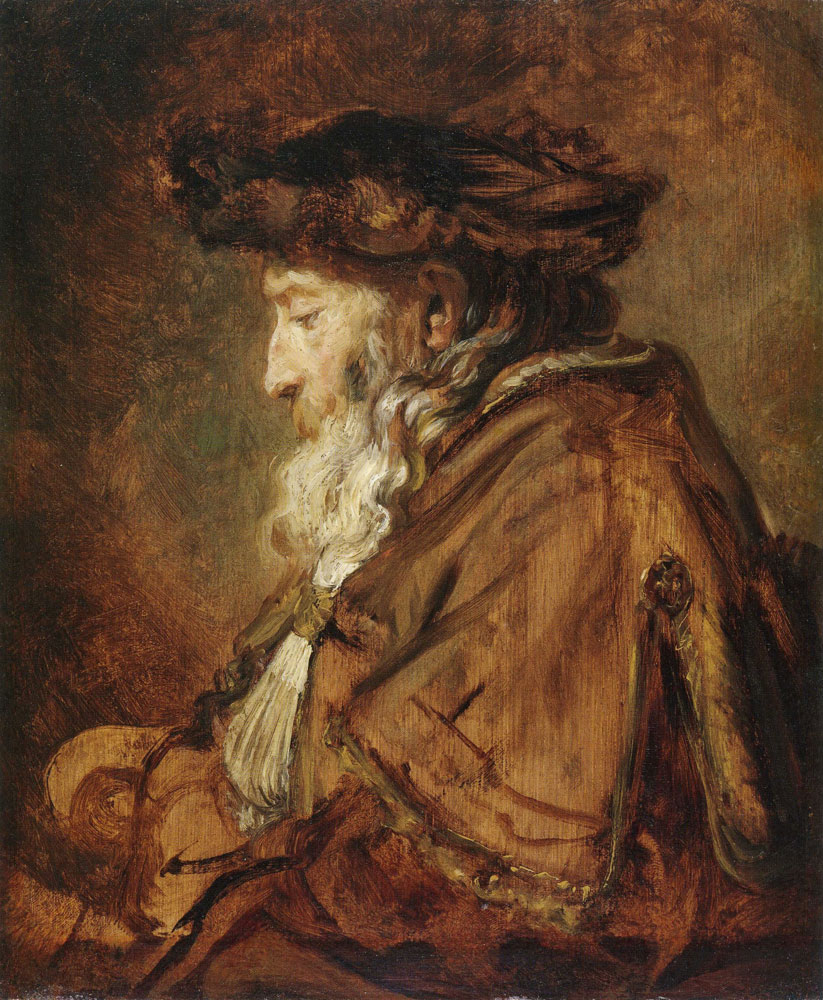 Rembrandt - Oil sketch of an old man