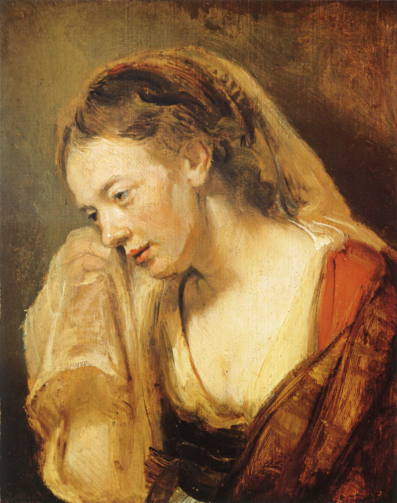 Rembrandt - Study of a crying woman