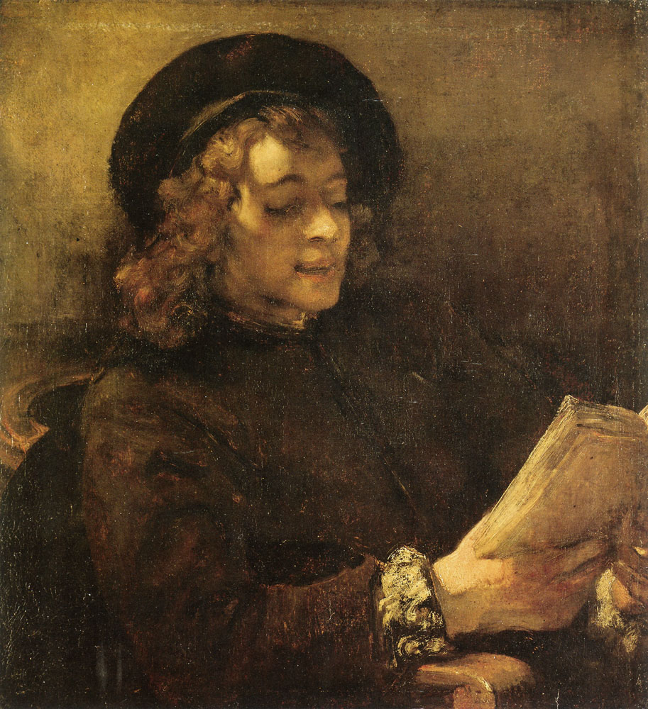 Rembrandt - Titus Reading