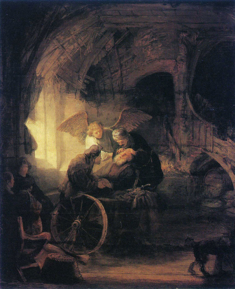 Formerly attributed to Rembrandt - Tobias Healing His Father