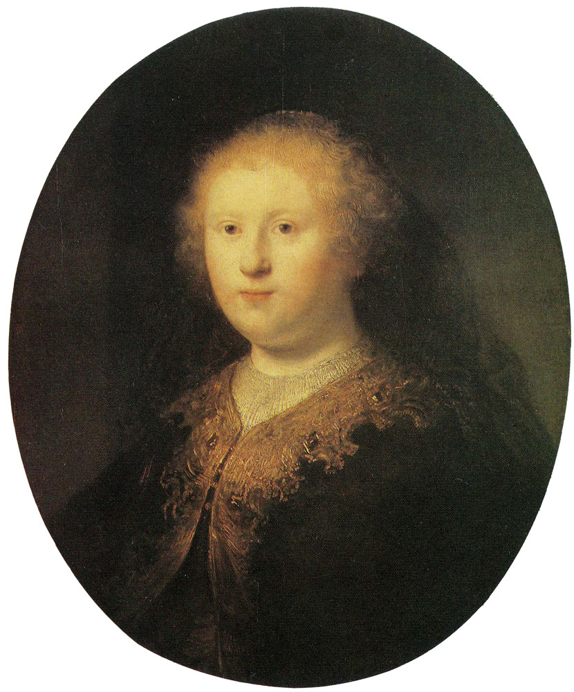 Rembrandt workshop - Bust of a Young Woman