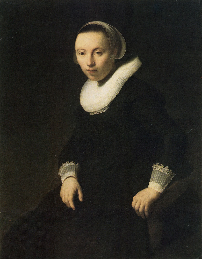Rembrandt - Portrait of a Young Woman Seated