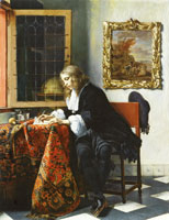 Gabriel Metsu A Man Writing a Letter