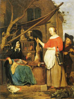 Gabriel Metsu An Old Woman Selling Game