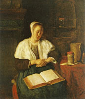 Gabriel Metsu A Woman Asleep with a Book on her Lap