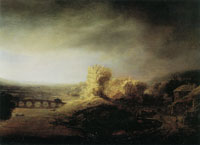 Govert Flinck Landscape with a Bridge