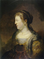 Govert Flinck Portrait of a Woman in Profile