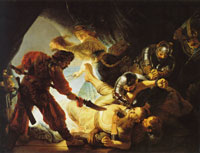 Rembrandt The blinding of Samson