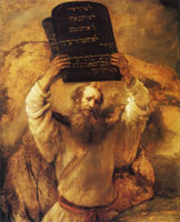 Rembrandt - Moses Breaking the Tablets of the Law