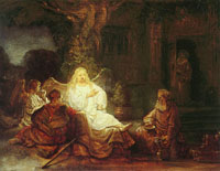 Rembrandt Abraham and the three angels