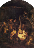 Rembrandt The Adoration of the Shepherds