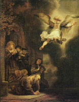 Rembrandt - The Angel Leaving Tobit and His Family