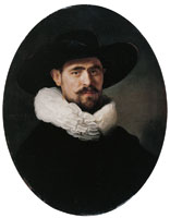 Rembrandt Portrait of a Bearded Man, Possibly Pieter Sijen
