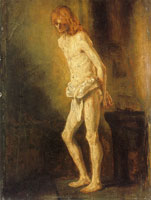 Attributed to Rembrandt Christ at the Column