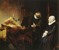 Rembrandt Portrait of the Mennonite Preacher Cornelis Claesz. Anslo and Aeltje Gerritsdr. Schouten