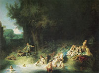 Rembrandt Diana Bathing with Her Nymphs