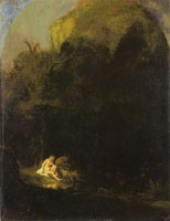 Follower of Rembrandt Diana Bathing