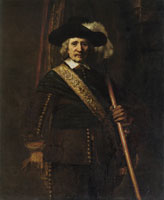 Rembrandt The Standard-Bearer (Floris Soop)
