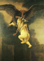 Rembrandt The Rape of Ganymede
