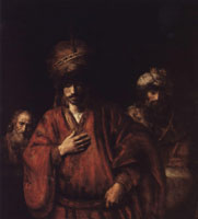 Rembrandt Haman Recognizes His Fate