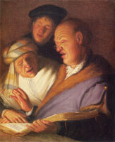 Rembrandt The Three Singers (Hearing)