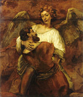 Rembrandt Jacob and the Angel